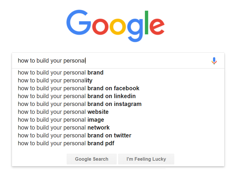 how to build your personal brand google search