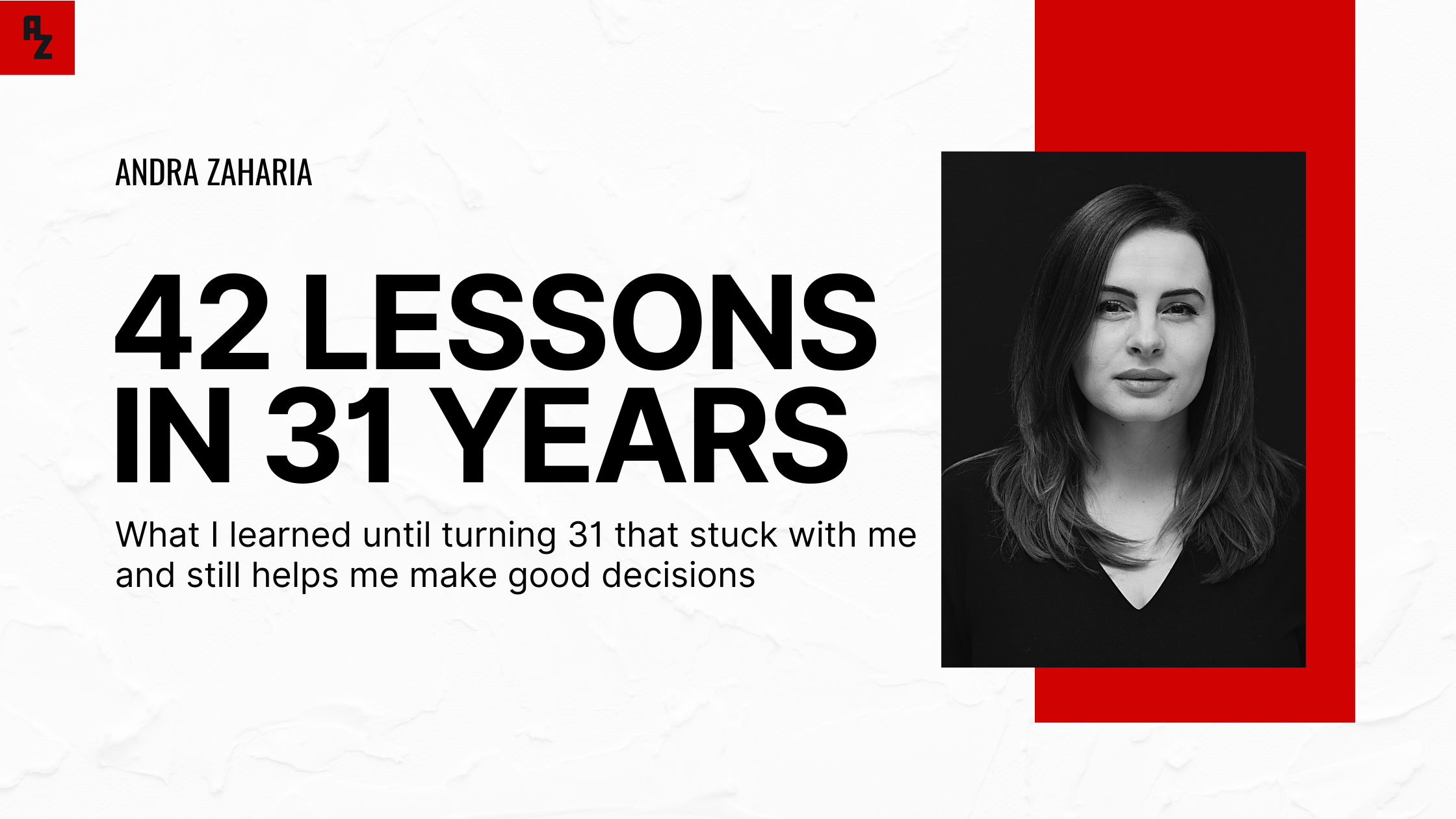 life lessons at 31