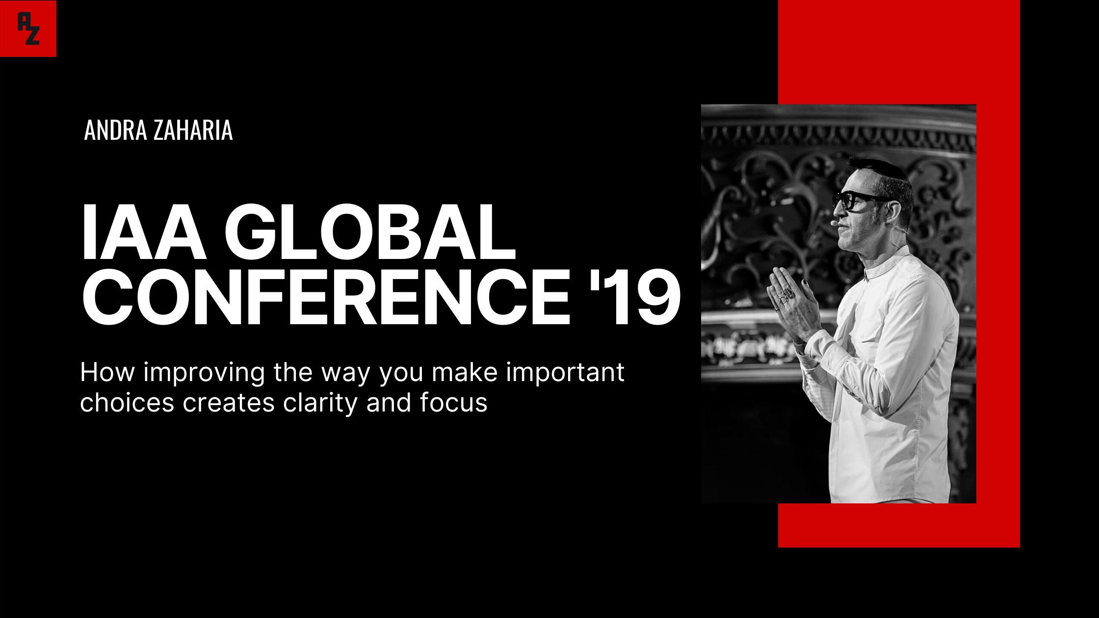 IAA global conference 2019 bucharest