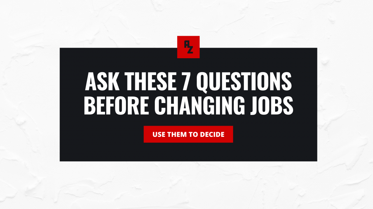 change jobs decide questions