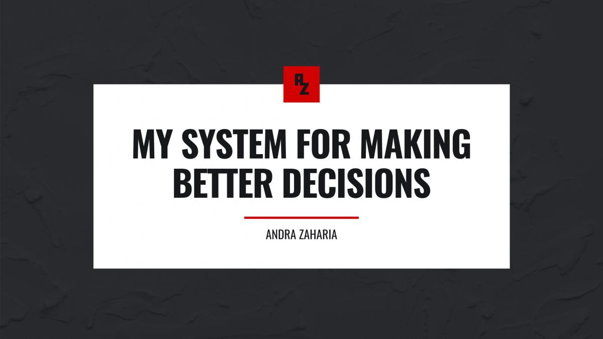 decision making system andra zaharia
